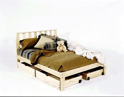 Amazon.com: King Size - Mission Platform Bed Frame - Unfinished ...