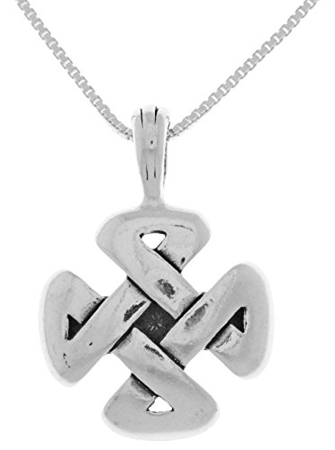 Jewelry Trends Sterling Silver Celtic Strength Pendant with 18 Inch Chain Necklace (Celtic Pendants Plain Sterling Silver)