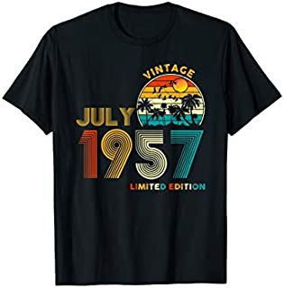 Retro Vintage July 1957  Vintage 62nd birthday gifts T-shirt | Size S - 5XL