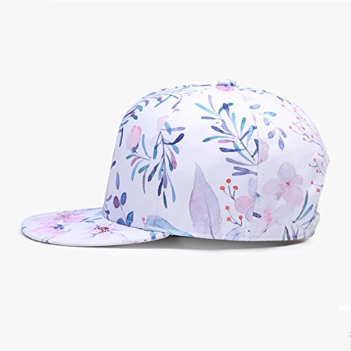 Unisex Estamapdo Verano Mujer con de Sol Béisbol Playa Visera NUZADA Floral Gorra de Hombre Snapback Floral Sombrero Plano para 5OqxwET