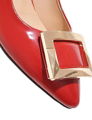 ZQ Zapatos de mujer-Tac¨®n Stiletto-Tacones-Tacones-Exterior / Oficina y Trabajo / Casual-Sint¨¦tico-Negro / Rosa / Rojo / Blanco / Plata / , golden-us10.5 / eu42 / uk8.5 / cn43 , golden-us10.5 / eu42 red-us3.5 / eu33 / uk1.5 / cn32