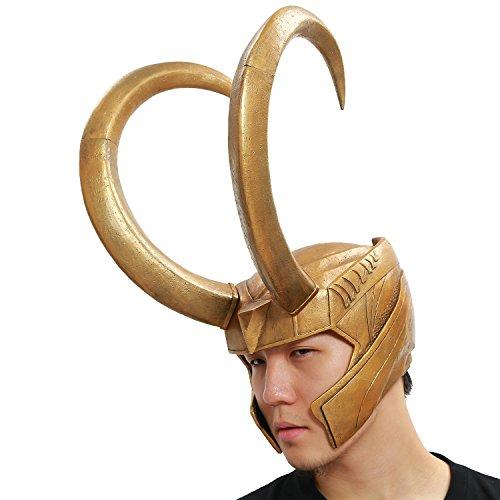 Luki Helmet Cosplay Golden PVC Full Head Handmade