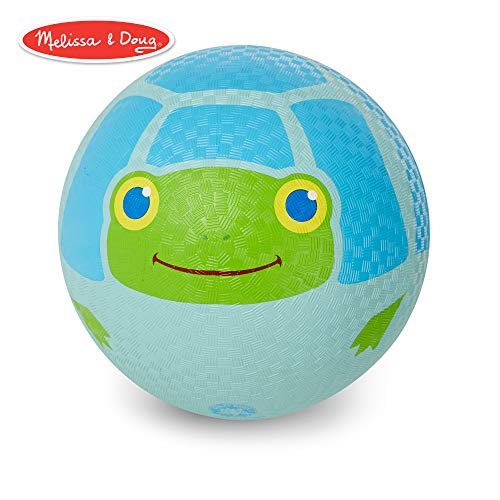 Melissa & Doug Sunny Patch Dilly Dally Turtle Classic Rubber Kickball -