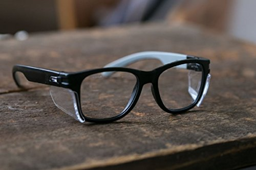 Magid Classic Black Safety Glasses | Iconic Design Series with Side Shields and Cloth Case - UV Protection, Anti Fog…