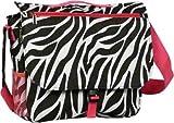 Zebra Print Laptop Messenger Bag w/ Hot Pink Trim