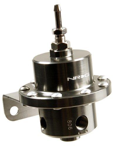 NRG Innovations FRG-200BC Black Chrome Double Diaphragm Fuel Regulator