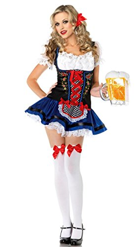 Halloween Flirty Fraulein Oktoberfest Outfit Fancy Dress Sexy Costume (Sexy Oktoberfest Outfit)