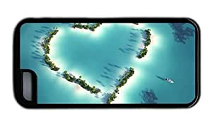 Hipster fashion for ipod Touch 4 case Heart Islands TPU Black for Apple for ipod Touch 4