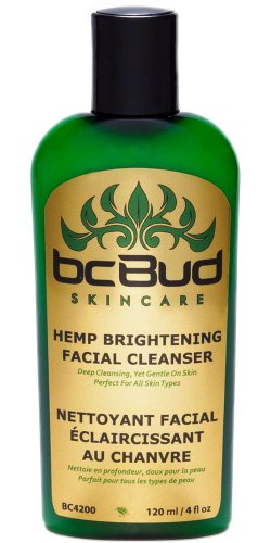 Hemp Brightening Facial Cleanser -- Natural Gentle Moisturizing Facial Cleanser Cream for Dry, Combination, Oily Skin and Sensitive Skin, Cruelty Free, 120ml
