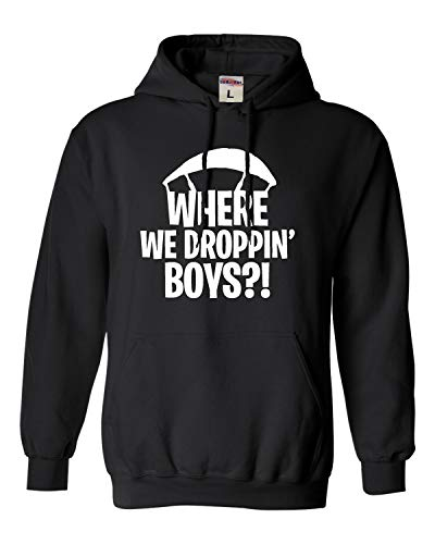 Go All Out XX-Large Black Adult Where We Droppin' Boys Sweatshirt Hoodie