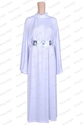 Princess Leia Organa Costume (Star Wars Princess Leia Organa Dress Cosplay Costume White M)