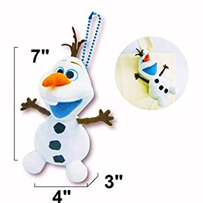 "Disney Frozen Soft Plush Smiling Olaf Car/Bag Mascot With Ball Chain. Limited Edition Total H - 8"" (21cm) . Japan Import."
