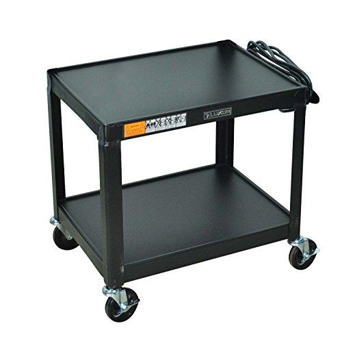 LUXOR AV26 Steel Fixed Height Adjustable AV Utility Cart, 26
