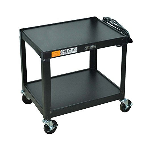 Adjustable Height Plastic Av Carts (LUXOR AV26 Steel Fixed Height Adjustable AV Utility Cart, 26