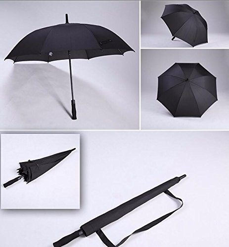 Yellow Single Jogging Stroller (OLQMY-Long handle oversized men's automatic double umbrellas customized business students bar umbrella female strengthening wind resistance,Single black)