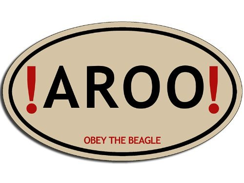 Beagle Dog Sticker - American Vinyl Oval AROO Obey The Beagle Sticker (Dog Breed Funny Love)