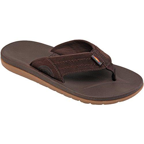 Men's Rainbow Sandals;Mens Molded Rubber - Dark Brown