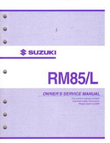 suzuki rm85 2009 factory service repair manual download