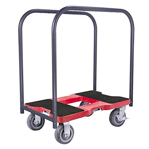 Snap-Loc 1800 Lb Super-Duty Professional E-Track Panel Cart Dolly Red, Safely Moves More In Less Time With Easy Rolling Casters, Removeable Panel Bars, Optional E-Strap Safety Attachment! SL1800PC6R