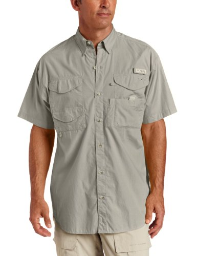ead Short Sleeve Fishing Shirt (Fossil, 4XT) ()