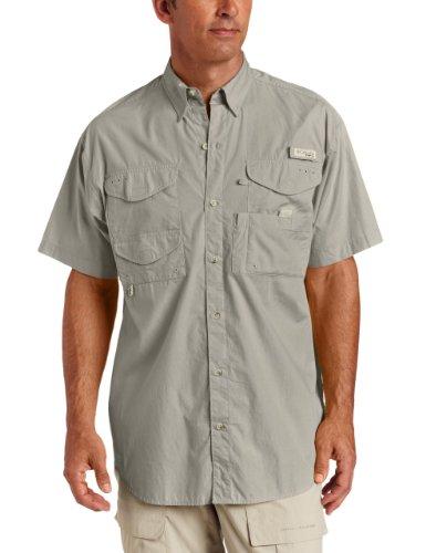 Columbia Men's Bonehead Short Sleeve Fishing Shirt (Fossil, 4XT)