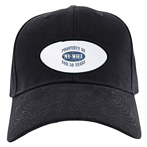 CafePress Funny 50Th Anniversary Black Cap Baseball Hat, Novelty Black Cap