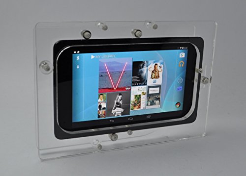 Nexus 7 Clear Acrylic VESA Security Enclosure with Wall Mount Kit