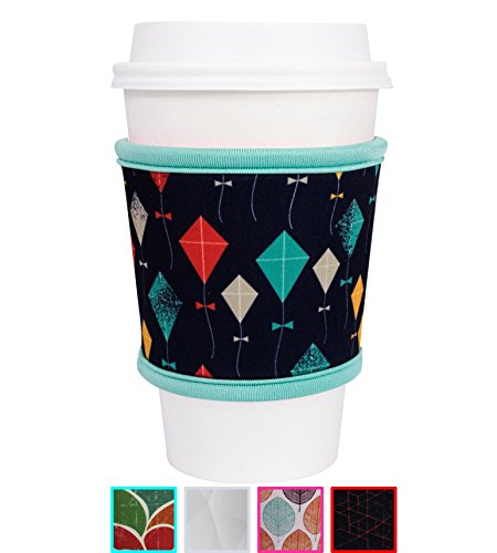 MOXIE Cup Sleeve - Premium Reusable Coffee Cup Sleeves - Many Colors Available - Insulated Coffee Sleeves to protect your hands! - Perfect for hot & cold drinks - One size fits all (Kites)