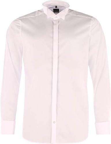 Olymp - Camisa de esmoquin para hombre - Color blanco, 3077 65 00.: Amazon.es: Ropa y accesorios