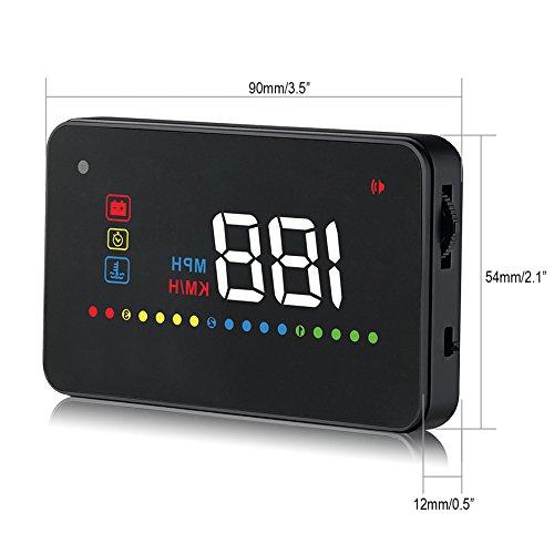 veh/ículo con OBD II HUD sistema conducci/ón Plug /& Play KM//h MPH RPM exceso de velocidad Advertencia leaningtech A200/3,5/multifunci/ón coche HUD Head Up Display OBD2/enchufe