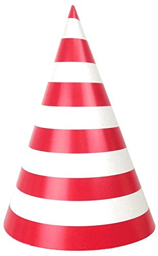 Just Artifacts Childrens Party Cone Hats 12pcs Striped -