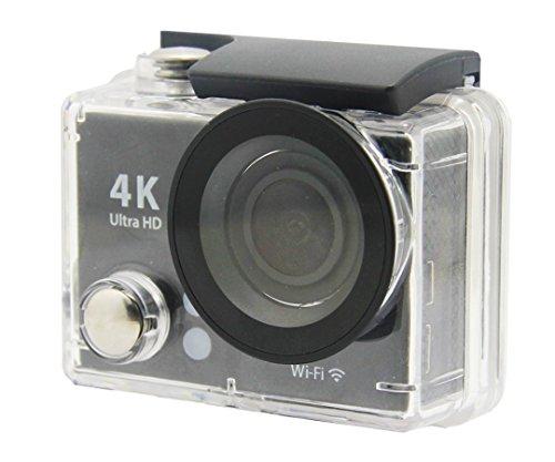 (NAXA Electronics NDC-406 Waterproof 4K Action Camera, Shiny Black (NDC-406))