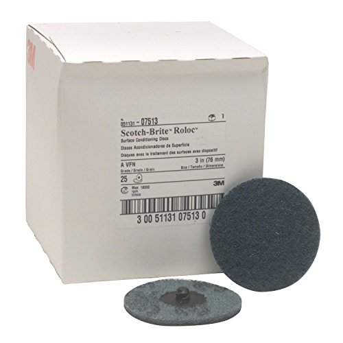 Scotch-Brite Roloc Surface Conditioning Disc, Very Fine grit, 3 in, 07513 (25/Pack) by 3M