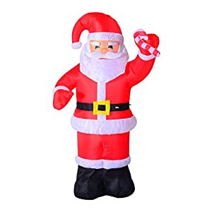 8ft indoor outdoor led inflatable holiday for Amazon christmas lawn decorations