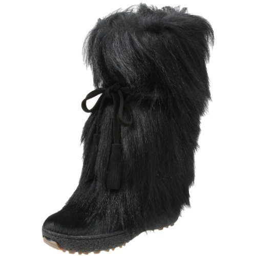 t Tassle Tie Goat Hair Boot,Black,38 EU/7-7.5 B(M) ()