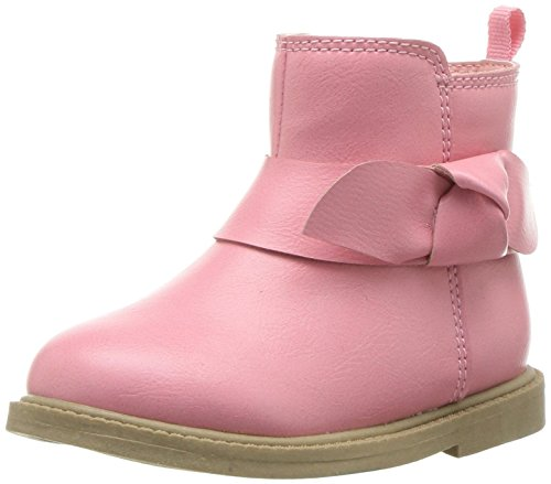 Carter's Girl's Connie2 Pink Boot Ankle, 7 M US Toddler