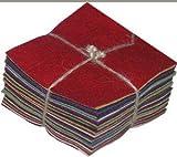 30 5' Squares 100% Wool Felt Americana Colors Charm Pack