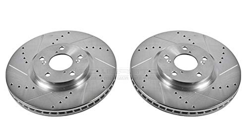 Power Stop JBR1171XPR Front Evolution Drilled & Slotted Rotor Pair