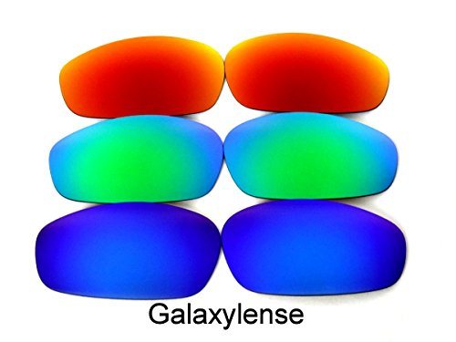 Galaxy Replacement Lenses For Oakley Split Jacket Blue/Green/Red - Split Lenses Oakley Jacket Polarized