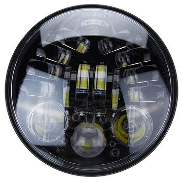 - 5.75inch 70W LED Headlights For Harley Davidson Dyna Breakout DOT - Motorcycle Lights Motorcycle Headlights - (Black)