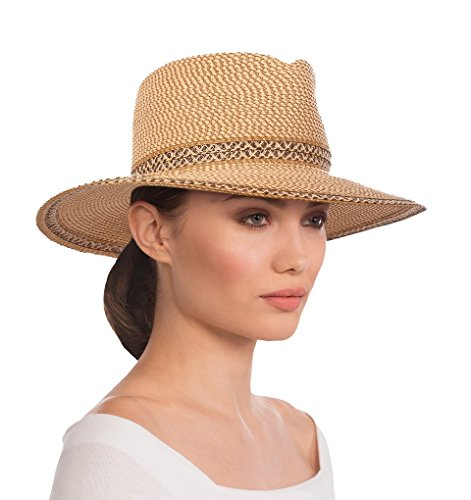 Eric Javits Luxury Fashion Designer Women's Headwear Hat - Georgia - Peanut by Eric Javits