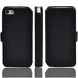 LCJ Angibabe 2-Folding PU Leather Case Stand Cover Case for iPhone 5 / 5s , Black by icecream design
