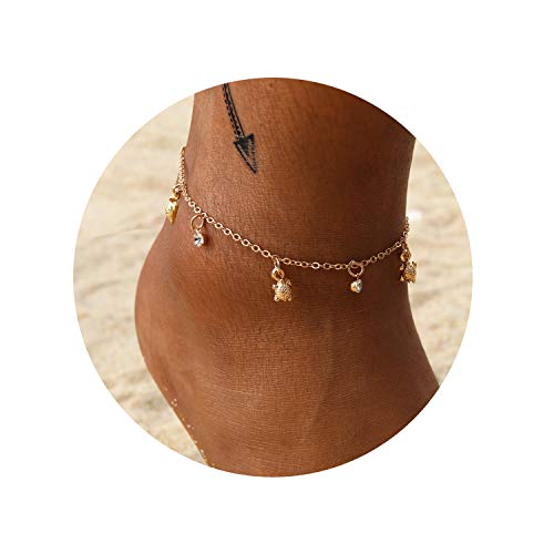 Eivanc Multilayer Metal Anklet Crystal Shell Adjustable Turtle Tassel Anklet Beads Sea Handmade Layered Boho Anklet Foot Jewelry Gold Chain Anklet Heart Beach Anklet for Women and Girls (The Best Of To Catch A Predator)