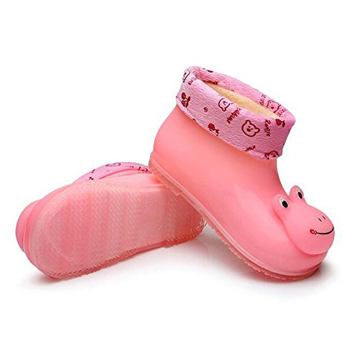 Zhuhaixmy Korean Kinder Baby Cotton Baumwolle Set Herausnehmbar Removable Rain Boots Regen Stiefel Shoes Rutschfest Gummi Rainboots Regen Schuhe Pink