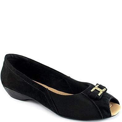 c35d798760 Sapatilha Peep Toe Numeração Grande Sapato Show 5576  Amazon.com.br ...