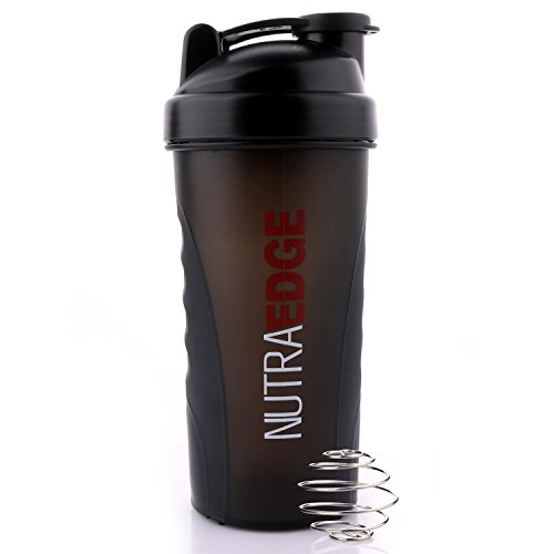 NutraEdge Shaker Bottle Blender Ball 20.5 Oz, Sports Nutrition Blender Bottle with Mixer Ball Blender, Non-slip part, FDA Approved