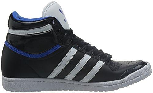 Adidas TOP TEN HI SLEEK UP Chaussures Mode Sneakers Femme Cuir Noir Bleu adidas Originals
