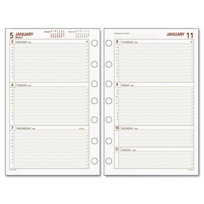 (Day Runner Express Weekly Planning Pages Refill for 2009, 5.5 x 8.5 Inches, Burgundy/Gray)