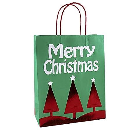 Bolsas de regalo de Navidad Kraft con asa, grandes bolsas de ...