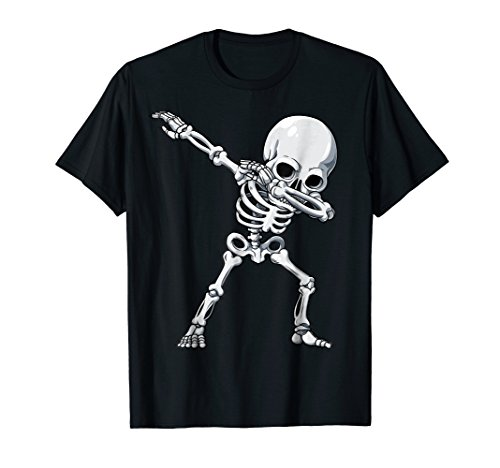 Halloween shirts for Boys Kids Dabbing Skeleton Tee Costume -